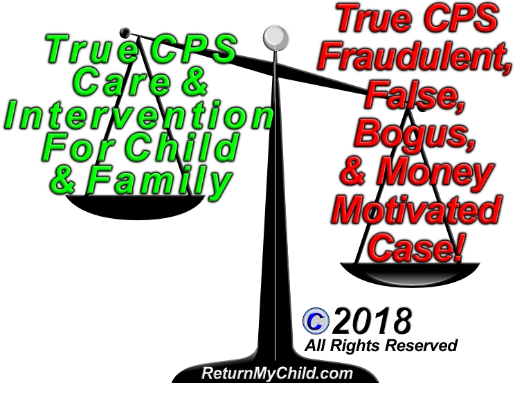 ReturnMyChild com - Legally Investigating CPS Fraud